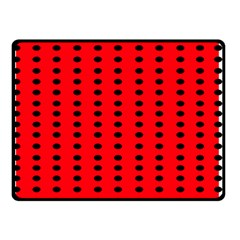 Red White Black Hole Polka Circle Double Sided Fleece Blanket (small)  by Mariart