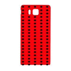 Red White Black Hole Polka Circle Samsung Galaxy Alpha Hardshell Back Case by Mariart