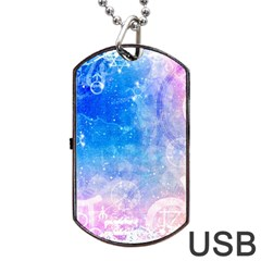 Horoscope Compatibility Love Romance Star Signs Zodiac Dog Tag Usb Flash (two Sides) by Mariart