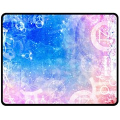 Horoscope Compatibility Love Romance Star Signs Zodiac Double Sided Fleece Blanket (medium)  by Mariart
