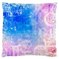 Horoscope Compatibility Love Romance Star Signs Zodiac Large Flano Cushion Case (two Sides) by Mariart