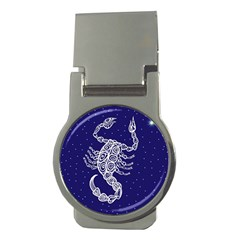 Scorpio Zodiac Star Money Clips (round)  by Mariart