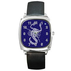 Scorpio Zodiac Star Square Metal Watch by Mariart