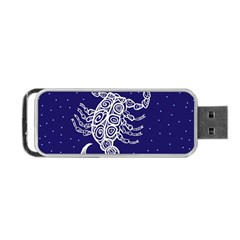 Scorpio Zodiac Star Portable Usb Flash (one Side) by Mariart