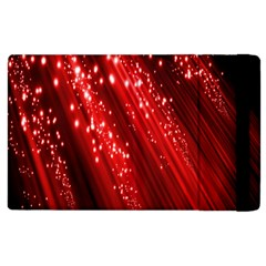 Red Space Line Light Black Polka Apple Ipad 3/4 Flip Case by Mariart