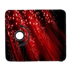 Red Space Line Light Black Polka Galaxy S3 (flip/folio) by Mariart
