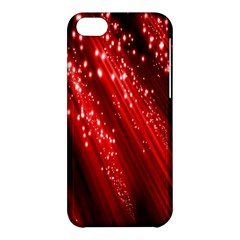 Red Space Line Light Black Polka Apple Iphone 5c Hardshell Case by Mariart