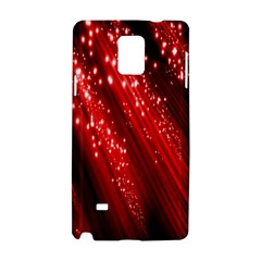 Red Space Line Light Black Polka Samsung Galaxy Note 4 Hardshell Case by Mariart