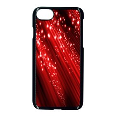 Red Space Line Light Black Polka Apple Iphone 7 Seamless Case (black) by Mariart