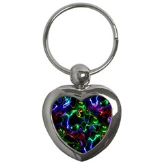 Saga Colors Rainbow Stone Blue Green Red Purple Space Key Chains (heart)  by Mariart