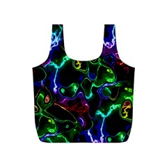 Saga Colors Rainbow Stone Blue Green Red Purple Space Full Print Recycle Bags (s)  by Mariart