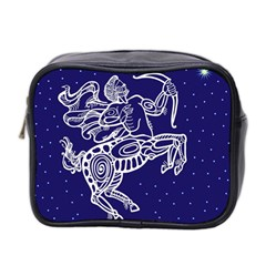 Sagitarius Zodiac Star Mini Toiletries Bag 2 Side by Mariart