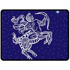 Sagitarius Zodiac Star Double Sided Fleece Blanket (large)  by Mariart