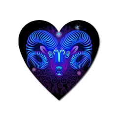 Sign Aries Zodiac Heart Magnet by Mariart
