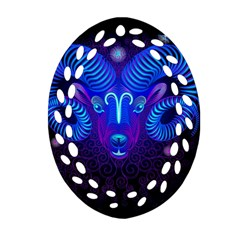 Sign Aries Zodiac Ornament (oval Filigree) by Mariart