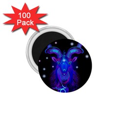 Sign Capricorn Zodiac 1 75  Magnets (100 Pack)  by Mariart
