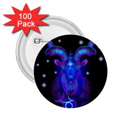 Sign Capricorn Zodiac 2 25  Buttons (100 Pack)  by Mariart