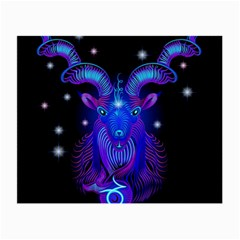 Sign Capricorn Zodiac Small Glasses Cloth (2 Side) by Mariart