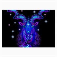 Sign Capricorn Zodiac Large Glasses Cloth (2 Side) by Mariart