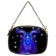 Sign Capricorn Zodiac Chain Purses (two Sides)  by Mariart