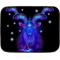 Sign Capricorn Zodiac Double Sided Fleece Blanket (mini)  by Mariart