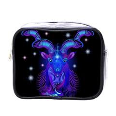 Sign Capricorn Zodiac Mini Toiletries Bags by Mariart