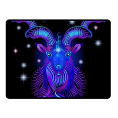 Sign Capricorn Zodiac Fleece Blanket (small) by Mariart