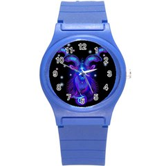 Sign Capricorn Zodiac Round Plastic Sport Watch (s) by Mariart