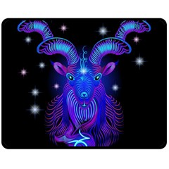 Sign Capricorn Zodiac Double Sided Fleece Blanket (medium)  by Mariart