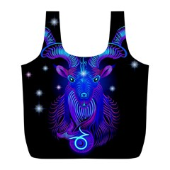 Sign Capricorn Zodiac Full Print Recycle Bags (l)  by Mariart