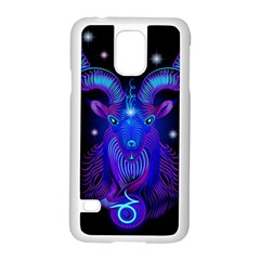 Sign Capricorn Zodiac Samsung Galaxy S5 Case (white) by Mariart