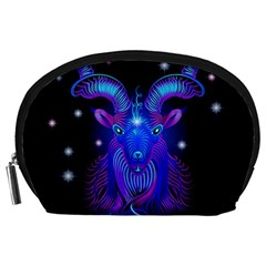 Sign Capricorn Zodiac Accessory Pouches (large)  by Mariart