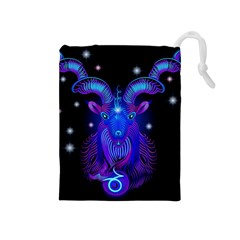 Sign Capricorn Zodiac Drawstring Pouches (medium)  by Mariart