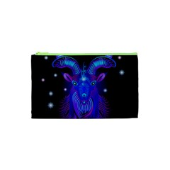 Sign Capricorn Zodiac Cosmetic Bag (xs) by Mariart