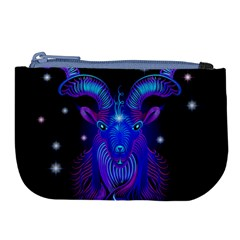 Sign Capricorn Zodiac Large Coin Purse by Mariart