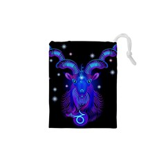 Sign Capricorn Zodiac Drawstring Pouches (xs)  by Mariart