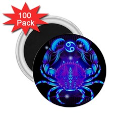 Sign Cancer Zodiac 2 25  Magnets (100 Pack)  by Mariart