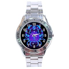 Sign Cancer Zodiac Stainless Steel Analogue Watch by Mariart