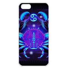 Sign Cancer Zodiac Apple Iphone 5 Seamless Case (white) by Mariart
