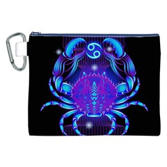 Sign Cancer Zodiac Canvas Cosmetic Bag (xxl) by Mariart