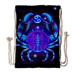 Sign Cancer Zodiac Drawstring Bag (large) by Mariart