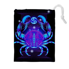 Sign Cancer Zodiac Drawstring Pouches (extra Large) by Mariart