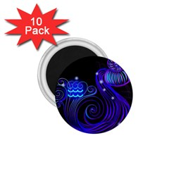 Sign Aquarius Zodiac 1 75  Magnets (10 Pack)  by Mariart