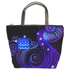Sign Aquarius Zodiac Bucket Bags by Mariart