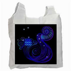 Sign Aquarius Zodiac Recycle Bag (one Side) by Mariart