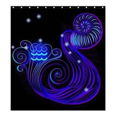 Sign Aquarius Zodiac Shower Curtain 66  X 72  (large)  by Mariart