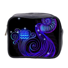 Sign Aquarius Zodiac Mini Toiletries Bag 2 Side by Mariart