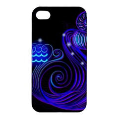 Sign Aquarius Zodiac Apple Iphone 4/4s Hardshell Case by Mariart