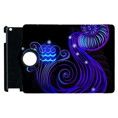 Sign Aquarius Zodiac Apple Ipad 3/4 Flip 360 Case by Mariart