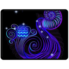 Sign Aquarius Zodiac Double Sided Fleece Blanket (large)  by Mariart